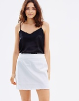 Frayed Edge Mini Skirt
