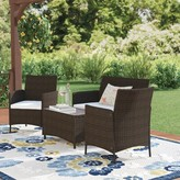Andover Mills Laisha 4 Piece Rattan Sofa Seating Group with Cushions Cushion Color: Beige