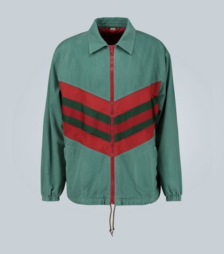 Gucci Denim Wash Chevron Track jacket