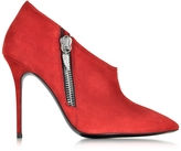 Giuseppe Zanotti Alice Flame Red Suede Bootie
