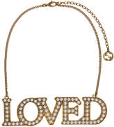Gucci Gold Pearl 'Loved' Necklace