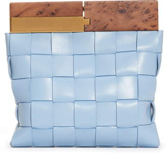 Bottega Veneta Snap Wood & Intrecciato Leather Clutch