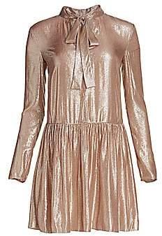 RED Valentino Women's Lamé Drop-Waist Dress
