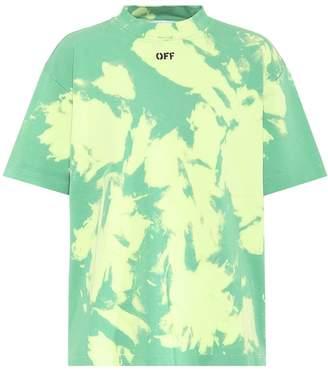 Off-White Off White Tie-dye cotton T-shirt
