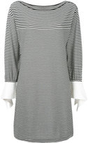Chloé tie sleeve breton dress - women - Cotton/Polyamide - M