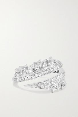 Stephen Webster + Net Sustain Magnipheasant 18-karat Recycled White Gold Diamond Ring - 7
