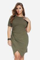 Fashion to Figure Varick Knot Side Jersey Dress
