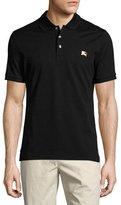 Burberry Talsworth Cotton Pique Polo Shirt, Black