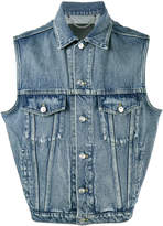 Balenciaga Sleeveless denim jacket