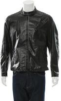 Pollini Leather Moto Jacket