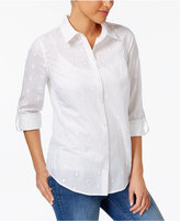 Charter Club Cotton Embroidered Shirt, Created for Macy's