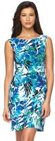 Connected Apparel Women's Floral Tiered Sheath Dress