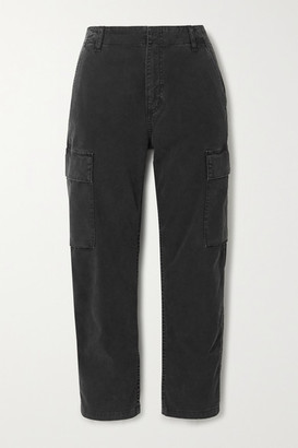 Citizens of Humanity Gaia Cotton-blend Twill Straight-leg Cargo Pants - Black