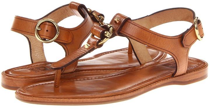 Frye Ali Toggle Thong (Tan Smooth Full Grain) - Footwear