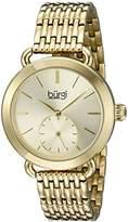 Burgi Women's BUR153YG Yellow Gold Multifunction Quartz Watch With Gold Dial and Yellow Gold Bracelet