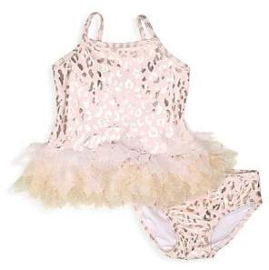448aef19ddffd Kate Mack Baby Girl's & Little Girl's Two-Piece Leopard Swimsuit