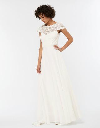 Monsoon Catherine Lace Maxi Wedding Dress Ivory