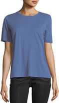 Eileen Fisher Short-Sleeve Slubby Organic Jersey Top, Petite