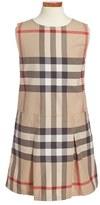 Burberry Girl's 'Dawny' Check Print Sleeveless Dress