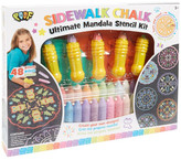 POOF Toys Ultimate Chalk Mandala Stencil Kit