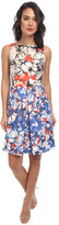 Donna Morgan Sleeveless Twill Floral Fit and Flare Dress