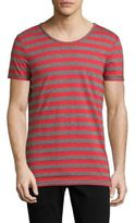 Strellson Striped Cotton-Blend Tee
