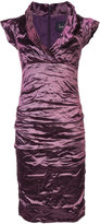 Nicole Miller creased fitted dress