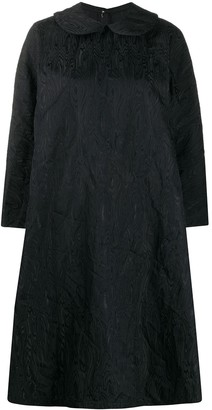 Comme des Garcons Abstract-Jacquard Round-Collar Shift Dress