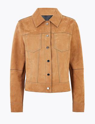 Marks and Spencer Suede Reversible Biker Jacket