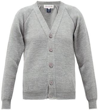 COMME DES GARÇONS GIRL V-neck Raglan-sleeve Cardigan - Grey