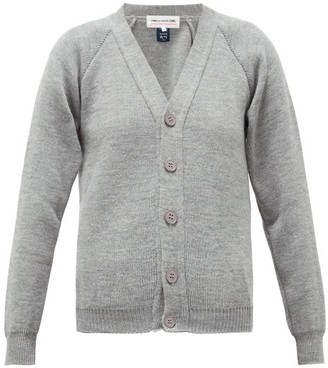 Comme des Garcons V-neck Raglan-sleeve Cardigan - Womens - Grey