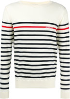 Moncler striped long sleeve jumper - men - Cotton/Nylon - S