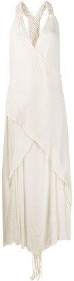 CARAVANA Draped Sleeveless Maxi Dress