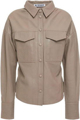 Walter Baker Textured-leather Shirt