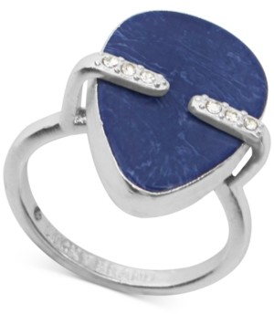 Lucky Brand Silver-Tone Pave & Stone Statement Ring