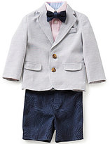 Class Club Little Boys 2T-7 4-Piece Striped Short Suit Set