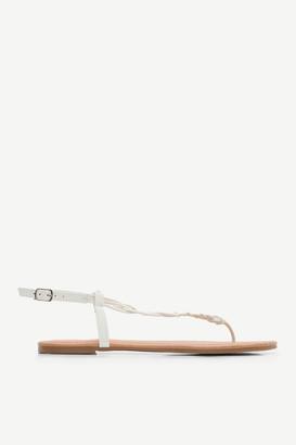Ardene Braided T-strap sandals