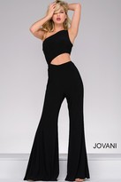Jovani One Shoulder Jersey Jumpsuit 48466