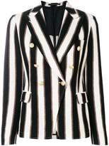Tagliatore striped button blazer