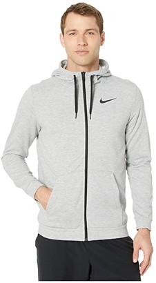 Nike Dry Hoodie Full Zip Fleece (Black/White) Men's Clothing