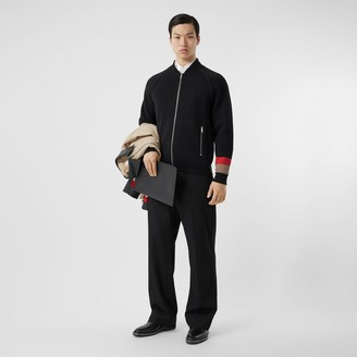 Burberry Double-faced Wool Cashmere Blend Bomber Jacket