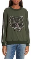 Kenzo Women's Athletic Stripe Tiger Sweatshirt