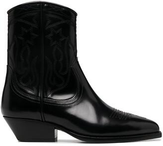 Sandro Jim cowboy boots