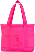 Ralph Lauren logo beach tote bag - kids - Cotton - One Size
