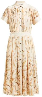Three Graces London X Zandra Rhodes Honore Silk Midi Dress - Womens - Cream Multi