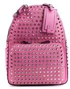 Valentino Women's Pink Leather Rockstud Backpack.