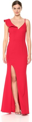 Xscape Evenings Women's Long Dress with Deep Slit