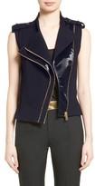 Lanvin Women's Wool Moto Vest