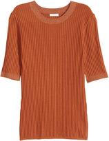 H&M Ribbed Sweater - Rust - Ladies