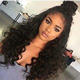 Vogue Queen Pre Plucked Loose Wave 360 Lace Band Frontal Closure with Natural Hairline Brazilian Virgin Human Hair Pieces with Baby Hair (16 inches, Lace Band Frontal,Loose Wave)